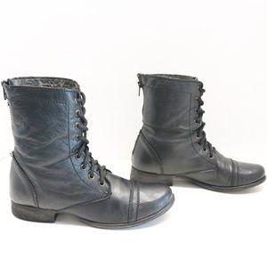 Steve Madden combat black boots size 9